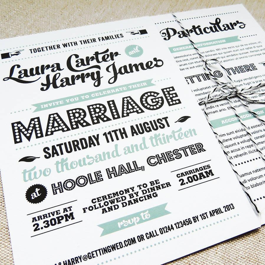 Partes de Matrimonio: ¿Cómo escribir mis invitaciones?