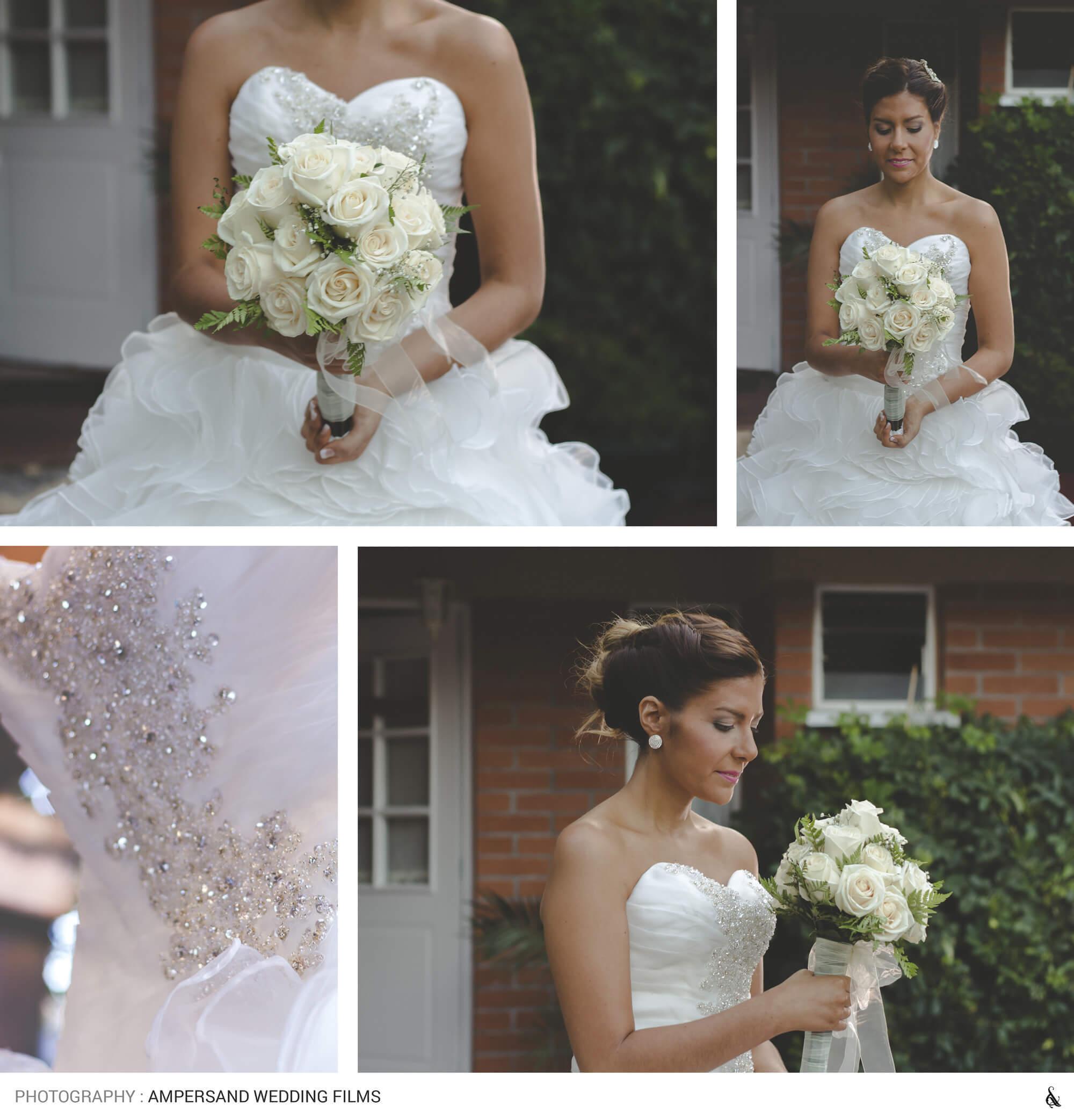 Sesión de fotografía de matrimonio preparativos novia : por @amperstudios