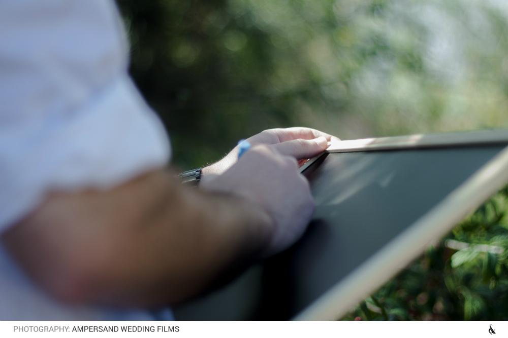 Escribiendo en la pizarra
