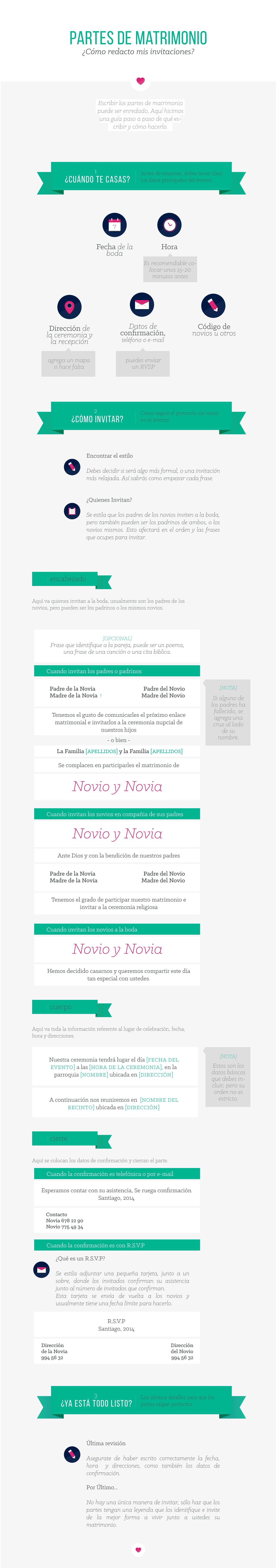 Cómo redactar tus partes de matrimonio, tips y ejemplos