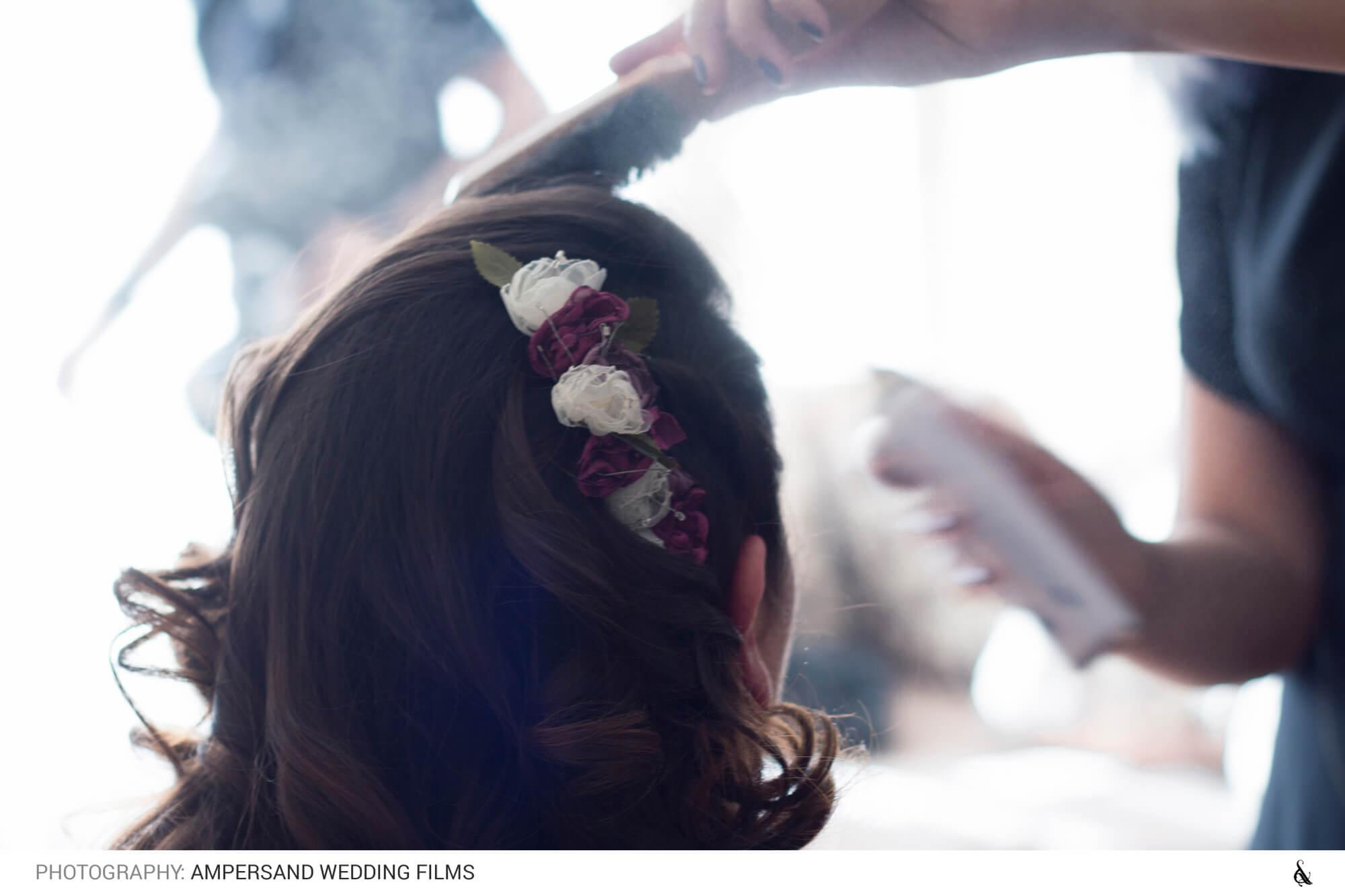 Peinado de novia - Matrimonio Pía & Juan Pablo en Campus Oriente